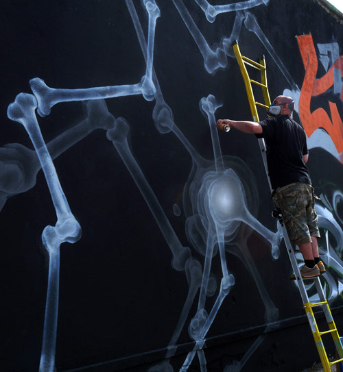 SHOK-1 x-ray graffiti