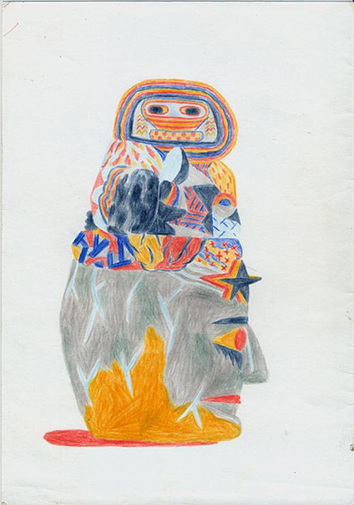 Drawings by artist Tamas Al