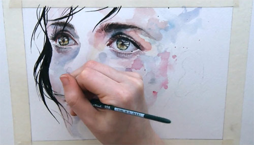 Watercolour paintings by Silvia Pelissero Agnes-Cecile