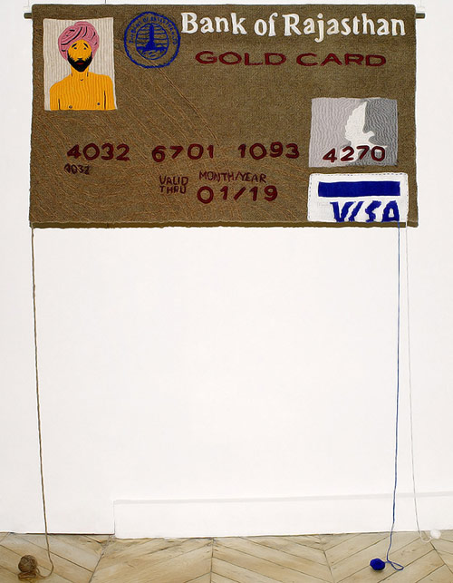 Knit Credit Cards by artist Dimitri Tsykalov