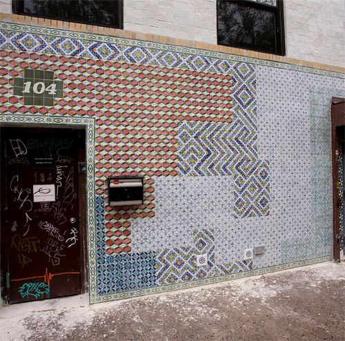 The 104 North 7th Project by artists Faile
