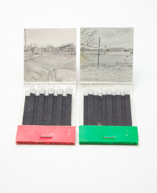 Google Street view match books by artist Krista Charles