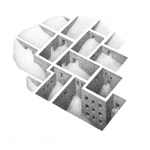 Drawings by artist Mathew Borrett