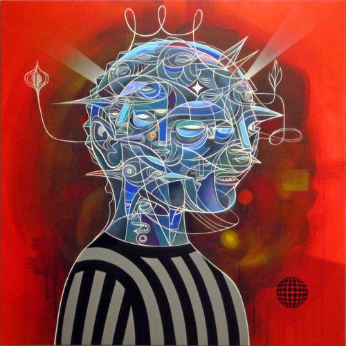 Artist painter Doze Green paintings