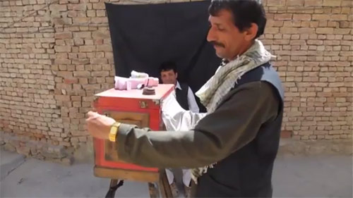 How to use an Afghan box camera
