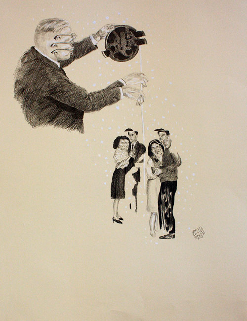 Drawings by artist Brian Downs