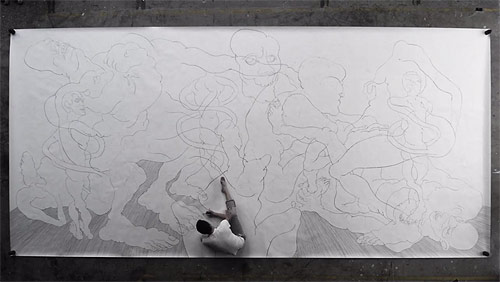 Slitscanner large-scale drawing by Carl Krull
