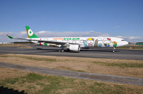 Hello Kitty Airlines collaboration with Taiwan-based EVA Air