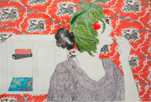 Drawings by artist Hope Gangloff