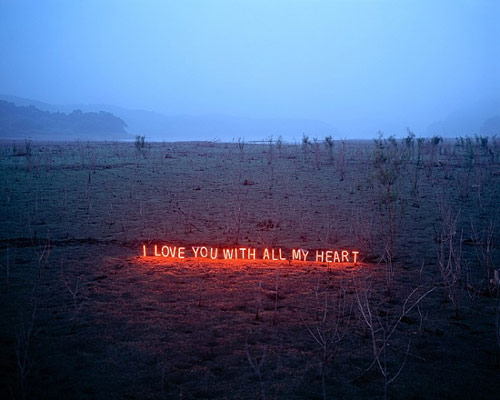 Text works by artist Lee Jung