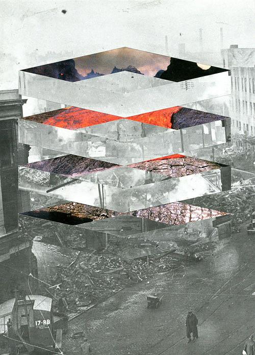 Collages by artist Mowgli Omari