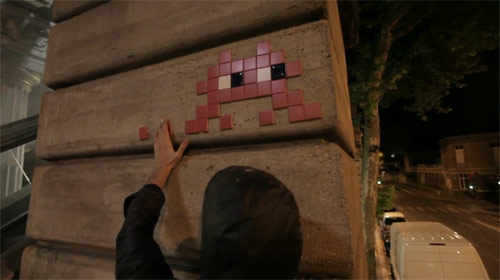 In Bed With Space Invader Paris street artist