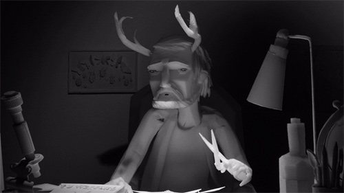 The Eagleman Stag stop-motion animation by Mikey Please