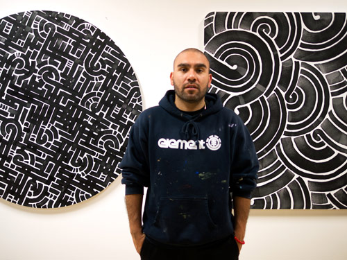 Artist Aaron De La Cruz show at Known Gallery
