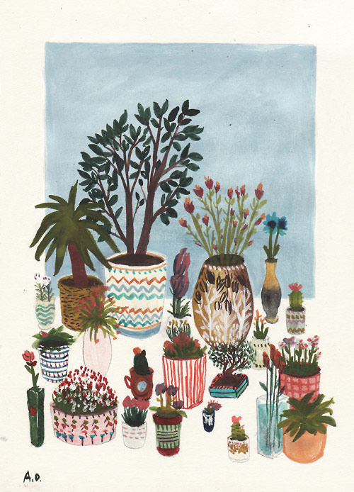 Drawings by illustrator Angela Dalinger