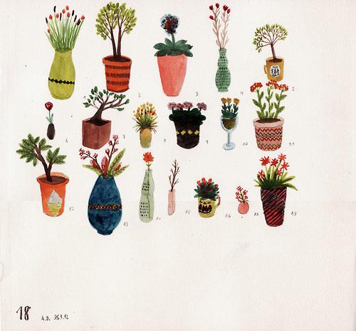 Drawings by illustrator Angela Dalinger