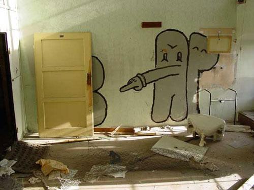 CAP Crew Against People graffiti