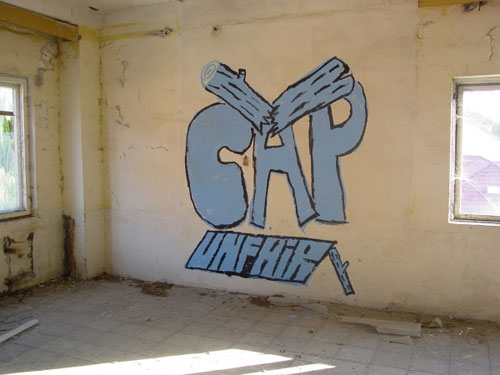 CAP Crew Against People graffiti