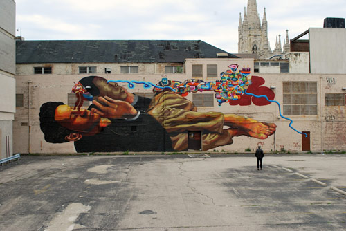 Beautiful mural by Nicolás Santiago Romero Escalada aka Ever
