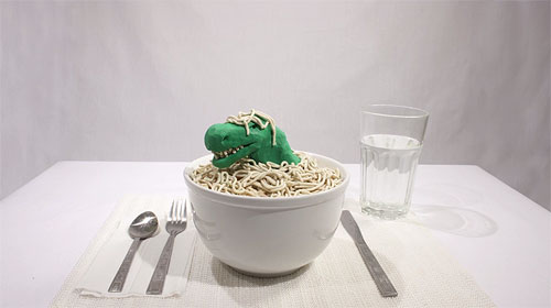No Noodles stop-motion animation by Tyler Nicolson