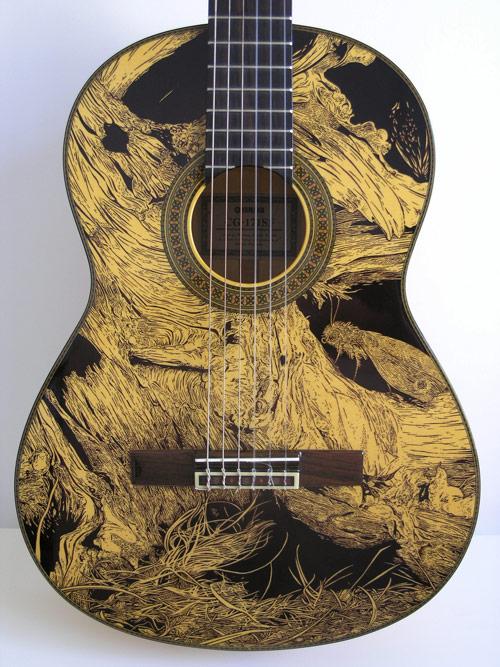 Guitar Designs Drawings Beautiful Ink Drawings on