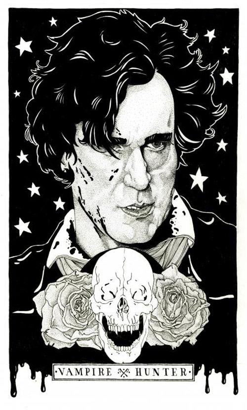 Abraham Lincoln Vampire Hunter illustration by Ramsey Chapman