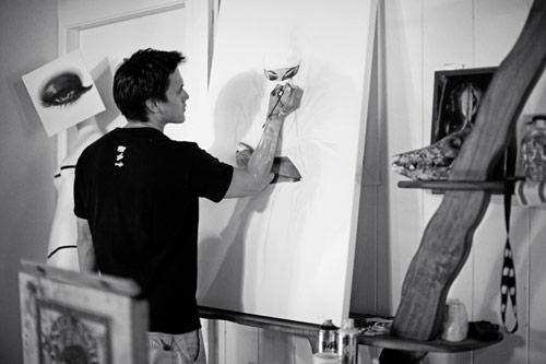 Artist painter Kamea Hadar
