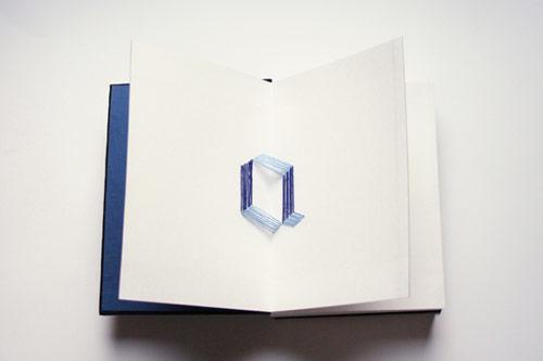 90º Typography Pop-Up Book