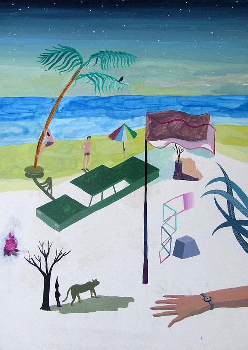Artist painter Matias Santa Maria