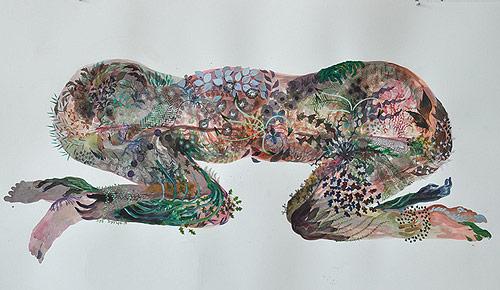 Mixed media drawings by artist Megan Diddie