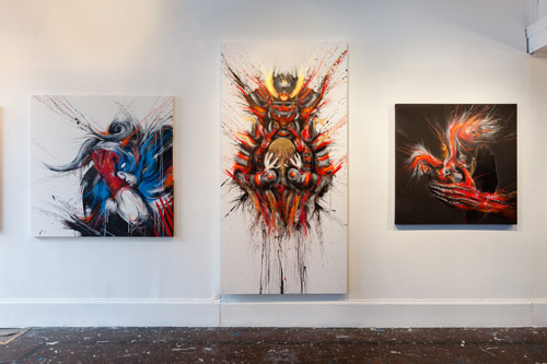 Artist painter Meggs at white walls gallery sf