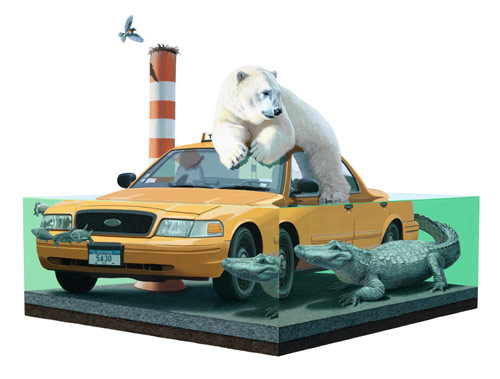 Artist painter Josh Keyes paintings