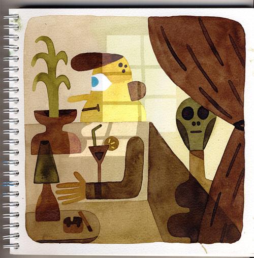 Drawings by artist Sebastien Touache