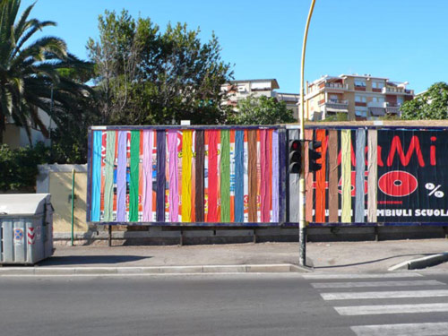 Billboard paintings by street artist ox