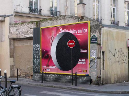 Billboard paintings by street artist ox
