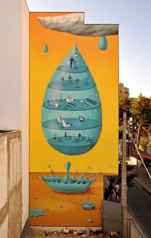 Street artist painters Interesni Kazki aec waone