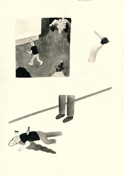 Drawings by artist Stephan Dybus Malblock