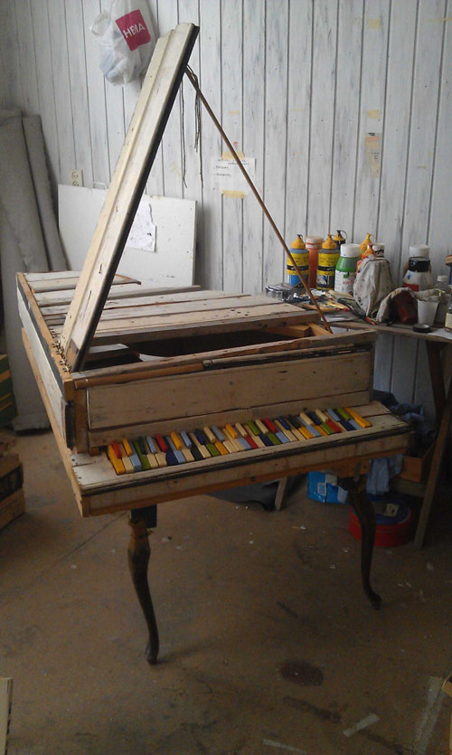 homemade piano � booooooom � create inspire community