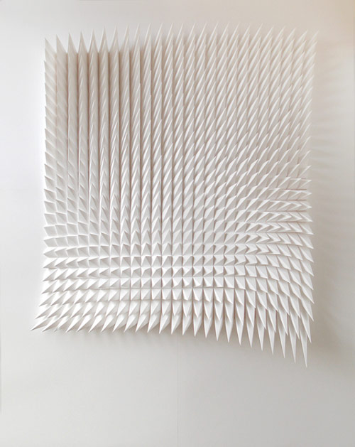 Paper works by artist Matthew Shlian