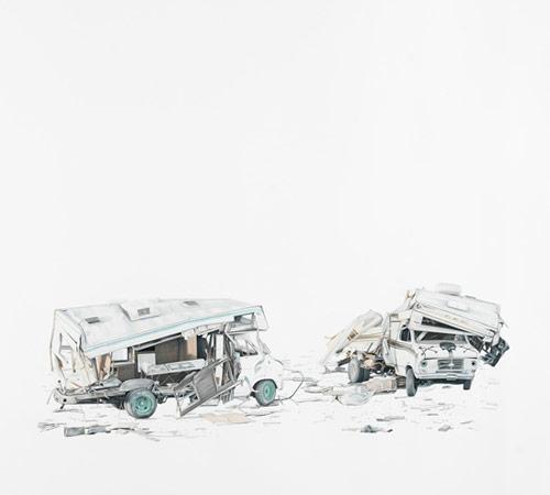 Drawings by artist Paul White