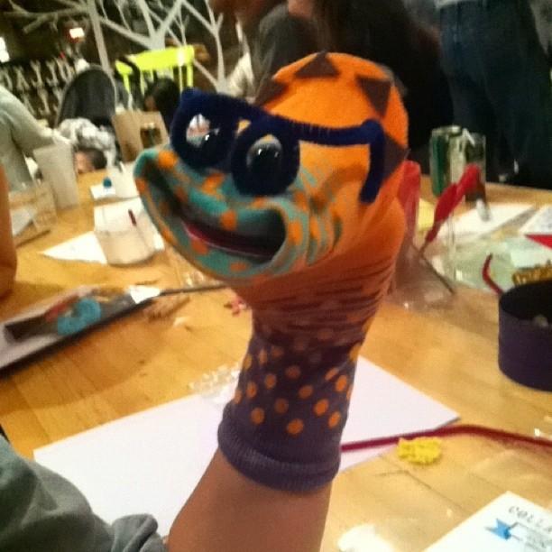 my sister's puppet, Vanessa