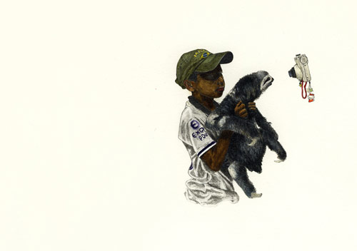Drawings by artist Adam Batchelor