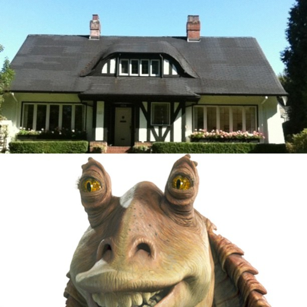 just biked past jar jar binks house