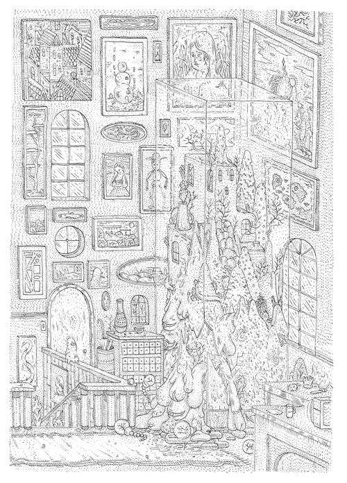 Drawings by artist Jean de Wet