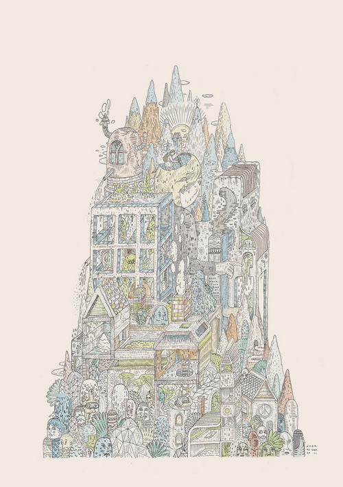 Drawings by artist Jean de Wet