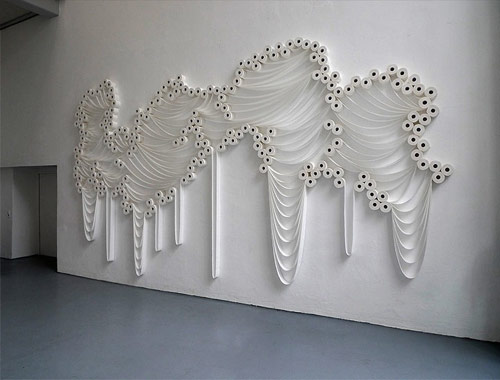 Incredible toilet paper installations by artist Sakir Gökcebag