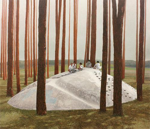 Artist painter Alex Roulette