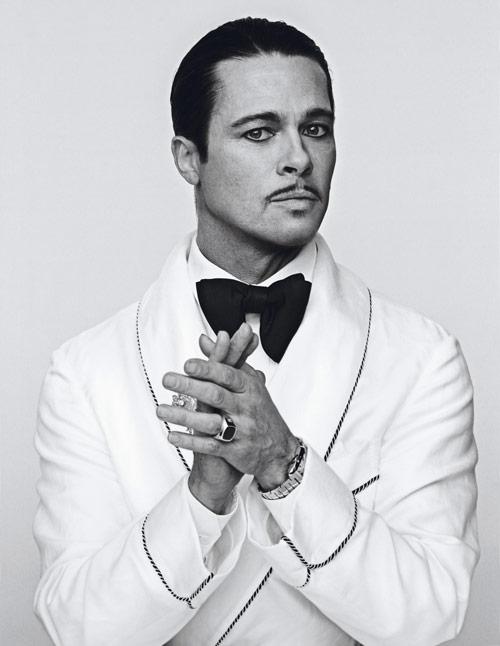Brad Pitt portraits in Interview Magazine