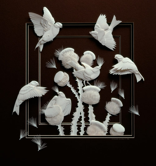 Cut paper art by Calvin Nicholls