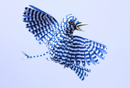 Paper bird sculptures by Diana Beltran Herrera